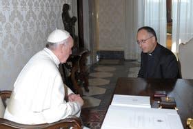 El papa Francisco y Antonio Spadaro, durante la entrevista para La Civiltà Cattolica que tanto revuelo generó
