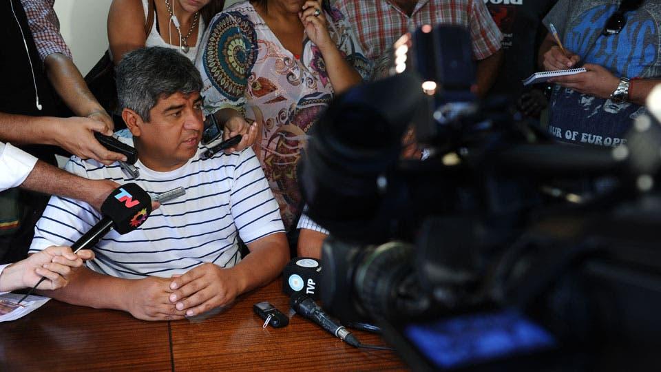 Moyano habló con la prensa y advirtió sobre posibles medidas de fuerza. Foto: Archivo
