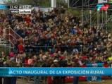 Discurso de Mauricio Macri en la Rural. Fuente: TN