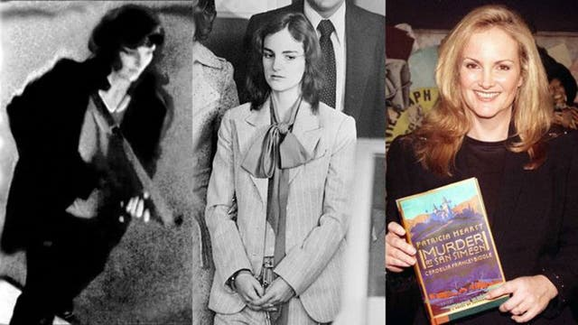 En 1994, Patricia Hearst, la nieta de un magnate de EE.UU., fue raptada y se convirtió en quizás el rostro más famoso del síndrome de Estocolmo. Asaltó un banco con el grupo que la raptó, Ejército de Liberación Simbionés (foto izq.). En el juicio (centro), la condenaron a 7 años de cárcel. Años desp