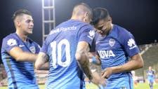 Centurión, Pavón y Bou celebran el primer gol