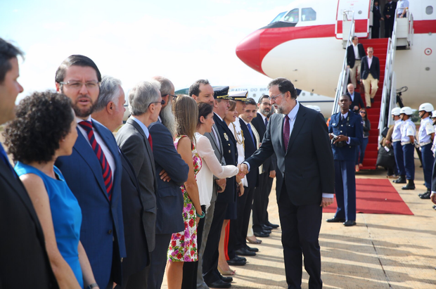 El presidente de España desembarcó ayer en Brasil