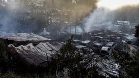 Se incendió un depósito de autos en Roma