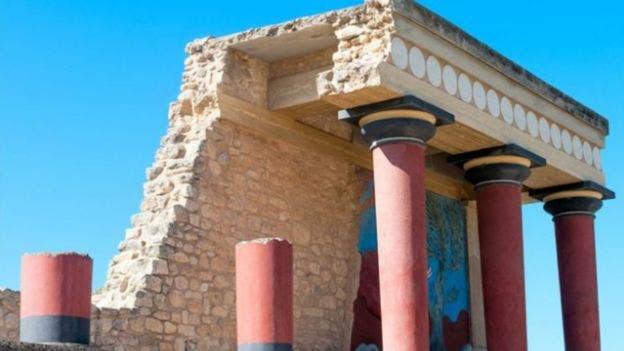 Restos del palacio de Cnosos,la ciudad más importante de Creta durante la civilización minoica