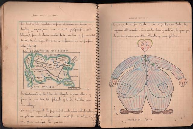 Cuaderno en el que en 1939 Landrú escribió Genésis novísimo.