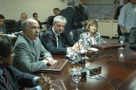 El juez Lorenzetti, el consejero Mosca y la jueza Elena Highton