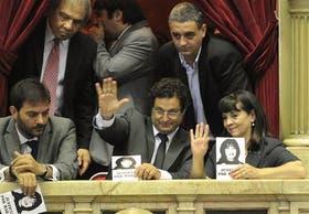 Susana Trimarco, madre de Marita Verón, en la sesión en que se aprobó la ley