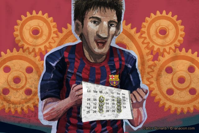Messi, uno que juega siempre
