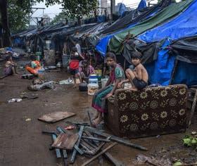 Las inundaciones golpearon varias zonas de Bombay, como Wadala