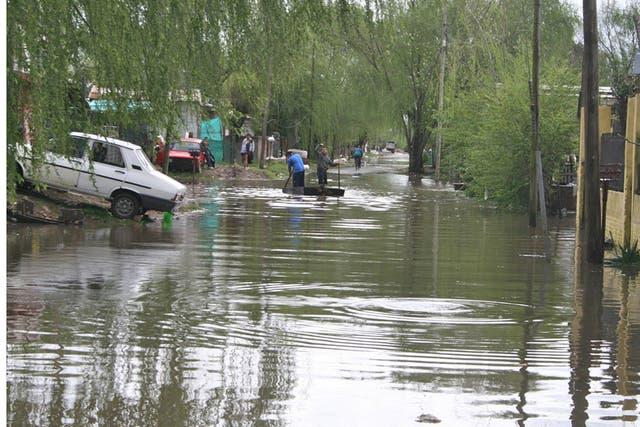 Imagen de una inundación en Tigre
