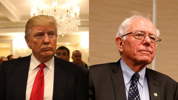 Donald Trump y Bernie Sanders