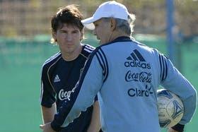 Messi y Sabella, una imagen que seguro se repetirá hoy