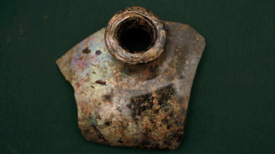 Restos de todos esos utensilios fueron encontrados en un pozo donde funcionó la primera capilla de la zona, el oratorio de La Calera. Foto: LA NACION / Hernán Zenteno