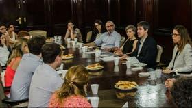 Adrián Pérez y Laura Alonso, reunidos con ONG