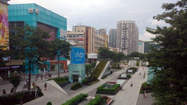 Las calles de Shenzhen, repletas de negocios de tecnología