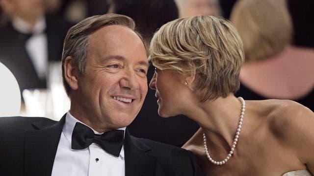 Con su genial compañera, Robin Wright, en la piel de la influyente Claire Underwood