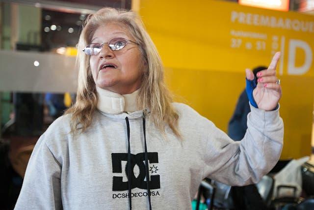 María, que vino a un control médico, pide poder volver