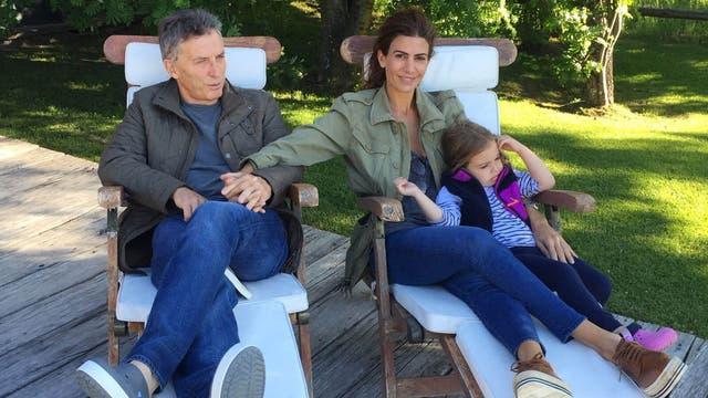 Mauricio Macri junto a su esposa, Juliana Awada y su hija Antonia