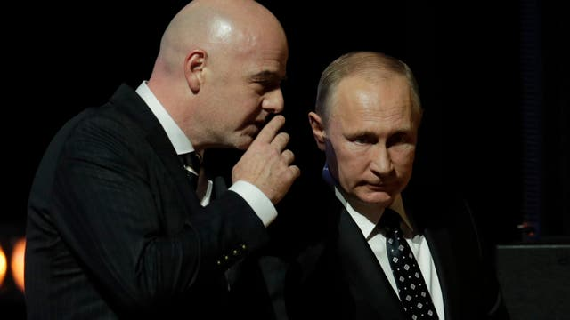 El evento de sorteo del Mundial de fútbol en Rusia 2018.