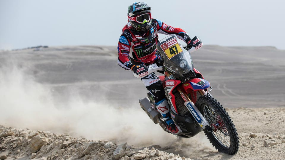 Entre los motociclistas Kevin Benavides (Honda) es la gran esperanza y llegó al ecuador de la carrera como líder de la clasificación general.