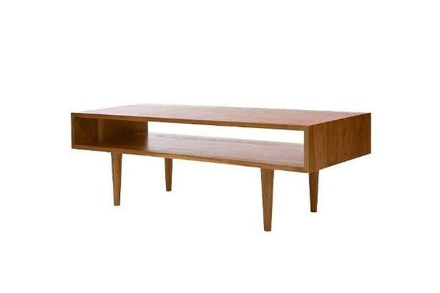 Mesa baja de diseño nórdico retro (Mobler).