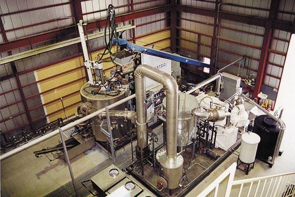 Una vista del convertidor de plasma de la compañía Startech