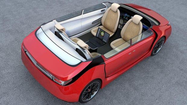 Una conceptualización de cómo podría ser un auto que se maneja solo