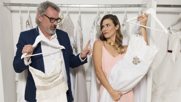 Benito Fernández y Pía Slapka, en la nueva temporada de Vestido de novia, edición argentina