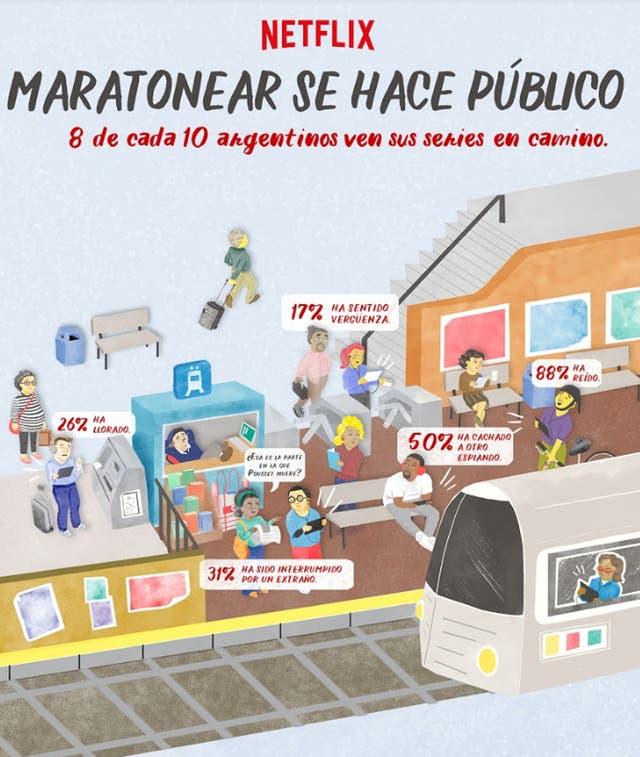 Cada vez más los argentinos maratonean en lugares públicos