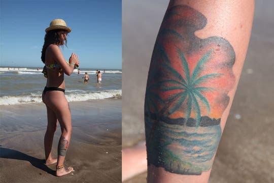 Cuerpos esculturales y con tatuajes en la costa atlántica. Foto: LA NACION / Matías Aimar