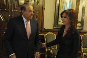 Slim, que en el país es dueño de la empresa de telefonía Claro, se reunió con Cristina Kirchner en mayo de 2011
