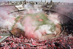 El Monumental, lleno de hinchas; el club de Núñez ostenta el mayor número de socios en el país
