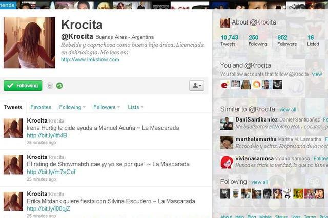 Krocita, autora del blog La Mascarada