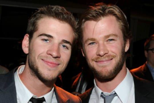 Los hermanos Hemswort. ¡Qué dupla!. Foto: Archivo