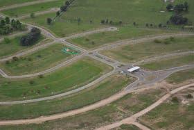 Una imagen aérea que muestra la magnitud de esta obra