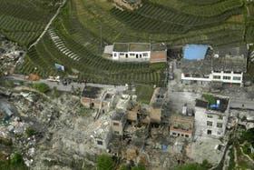 Imagen del desastre causado por el terremoto