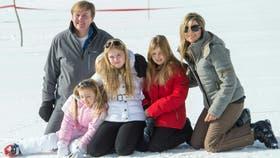Una de las hijas de Máxima se fracturó la pierna mientras practicaba esquí