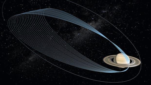 Cassini orbitará 22 veces a Saturno durante la fase final de su misión