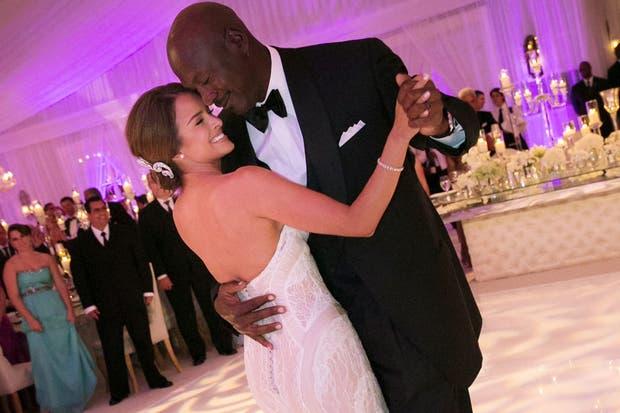 Jordan y su esposa, en un momento emotivo de la fiesta