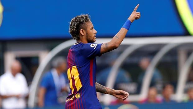 El festejo de Neymar
