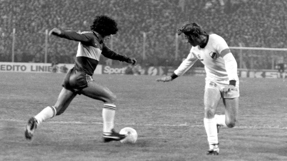 5-6-1981: goleada 4 a 0 a Platense en la cancha de Vélez. Foto: LA NACION