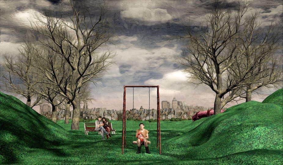 El dúo de artistas Mondongo, integrado por Juliana Laffitte y Manuel Mendanha, creó la escenografía de Miedo