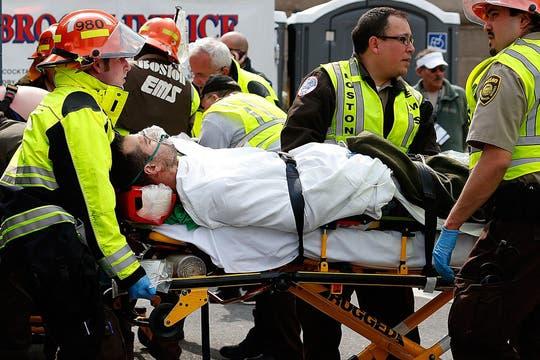 Las explosiones se produjeron en la línea de llegada. Foto: AFP
