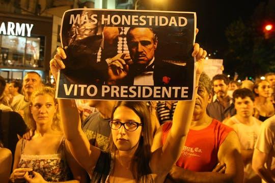 La ocurrencia y originalidad de los que participaron en la protesta del #8N. Foto: LA NACION / Mauro Alfieri