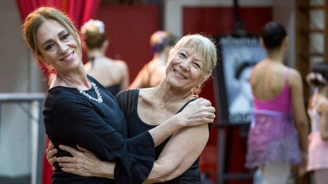 Marisa, la profesora, y Giovanna, que volvió con su hija a los 70 años