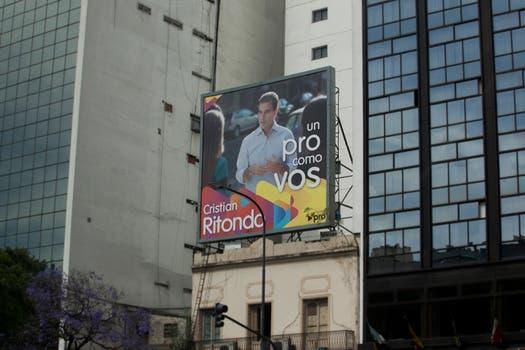 Cristian Ritondo marcó presencia en la 9 de Julio. Foto: LA NACION / Matias Aimar
