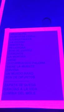 La lista de temas . Foto: LA NACION