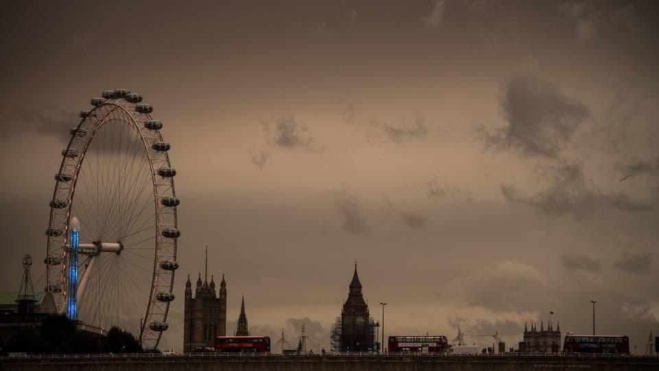 Una impresionante tormenta de arena azotó Londres