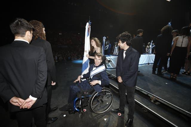 Iván en el evento premiación