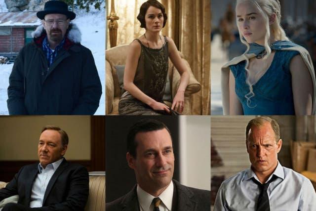 Breaking Bad, Downton Abbey, Game of Thrones, House of Cards, Mad Men y True Detective, los dramas nominados al Emmy